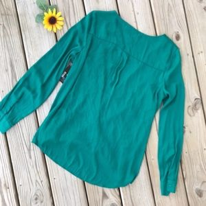 a.n.a Tops - A.N.A. Plunging Long Sleeve Top NEW